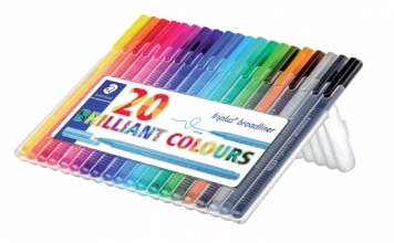 , Fineliner Staedtler Triplus 338 0.8mm assorti set à 20 stuks