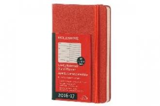 MOLESKINE WOCHEN NOTIZKALENDER 2016/2017 RECHTS LINIERTE SEITE, P/A6, HARD COVER, Koralle
