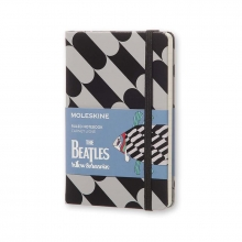 , Moleskine LE Notitieboek The Beatles notebook Pocket (9x14 cm) Gelinieerd Black Fish