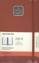 Moleskine Tageskalender, 18 Monate, 2018/2019, Large/A5, Hard Cover, Scharlachrot
