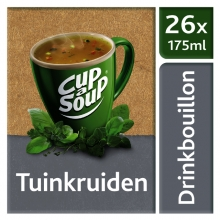 , Cup-a-soup heldere bouillon tuinkruiden 26 zakjes