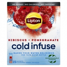 , Cold infuse Lipton pomgran hibiscus