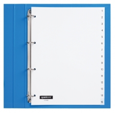 , Tabbladen Quantore 4-gaats 1-15 genummerd wit PP