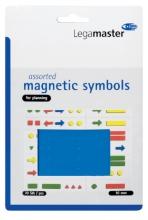 , Magneet Legamaster symbolen 10mm blauw assorti