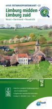 ANWB , Fietsknooppuntenkaart Limburg midden, Limburg zuid 1:100.000