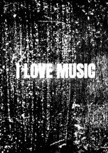 Allets Comfort , Notenschrift- Notenbalken- I love music (A5) Allets comfort