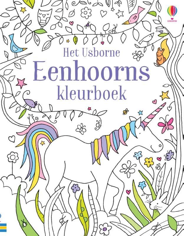 ,Eenhoorns kleurboek