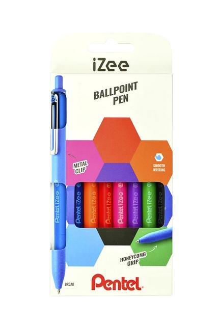 ,Balpen Pentel  iZee  BX470 set à 8 kleuren