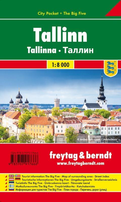 ,Tallinn, Stadtplan 1:10.000, City Pocket + The Big Five
