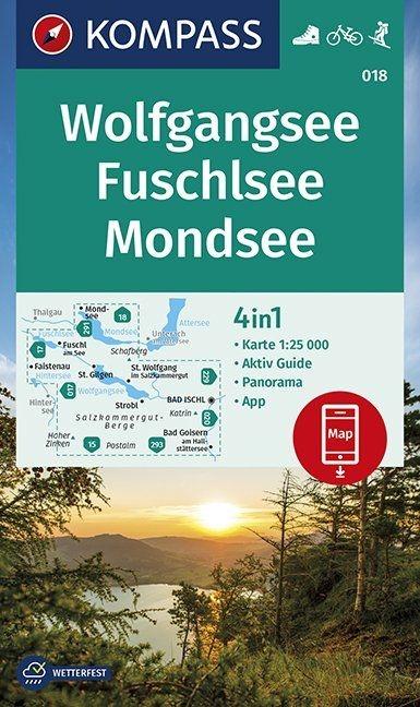 ,Wolfgangsee, Fuschlsee, Mondsee 1:25 000