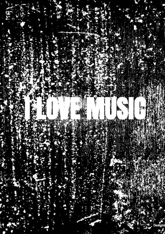 Allets Comfort,Notenschrift- Notenbalken- I love music (A5) Allets comfort