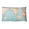 ,Kussen wereld vintage world map