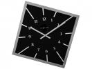 ,wandklok NeXtime 56 x 56 cm   glas, zwart, `Off balance`