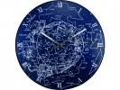 ,Wandklok NeXtime dia. 35 cm, bol glas, `Milky Way dome`
