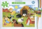,Op de boerderij - puzzel 2 x 24 stukjes