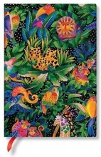 Pb fb7266-9 , Paperblanks notitieboek flexis midi lijn whimsical creations jungle song