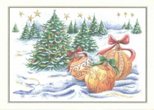 Winter Ornaments Deluxe Boxed Holiday Cards
