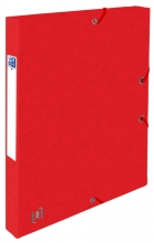 , Elastobox Oxford Top File+ A4 25mm rood