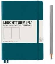 , Leuchtturm notitieboek softcover 19x12.5 cm blanco pacific