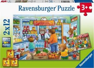 Rav-050765 , Puzzel wij gaan boodschappen doen  2 x 12 stuks