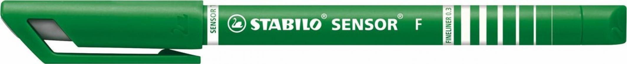 , Fineliner stabilo sensor 189/36 groen