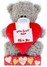 Vp701025 , Me to you knuffel - beer - with love from me to you - met kaartje - 16cm