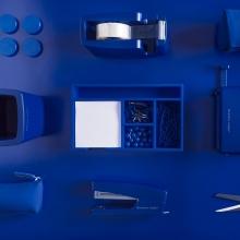 , Bureauonderlegger quatro colori  blauw