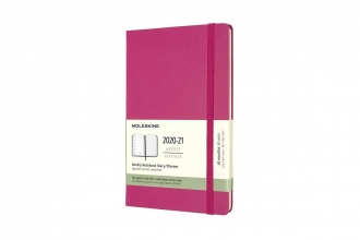 , Moleskine 18 MND Agenda - 2020/21 - Wekelijks - Large (13x21 cm) - Bougainvillea Pink - Harde Kaft