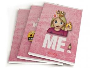 , EMOJI GIRLS SCHRIFT A5 3-Pack 1X4,95 - BTS 18-19