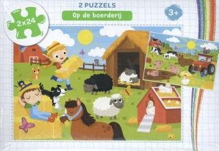 , Op de boerderij - puzzel 2 x 24 stukjes