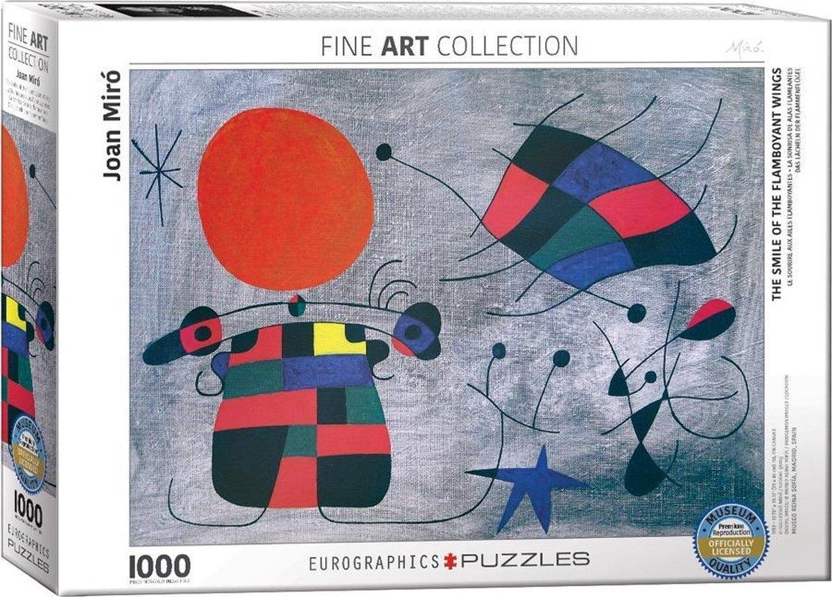 Eur-6000-0856,Puzzel the smile of the flamboyant - joan miro - 1000 stuks