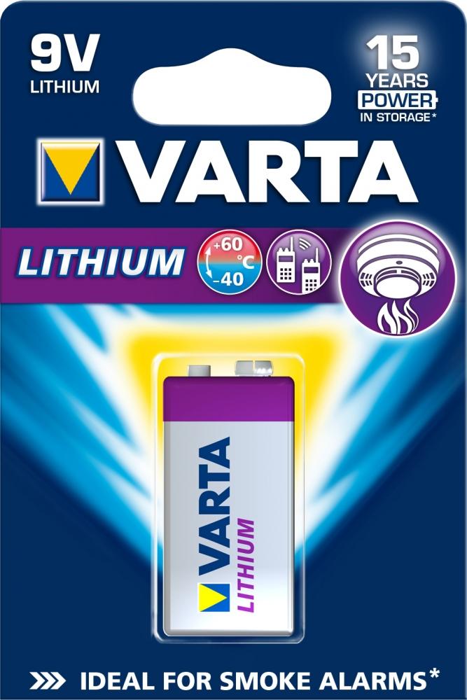 ,Batterij Varta Ultra lithium 9Volt
