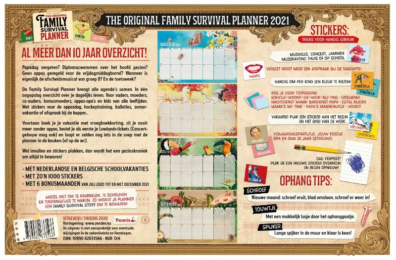 Uitgeverij Thoeris en Zender,Family Survival Planner 2021