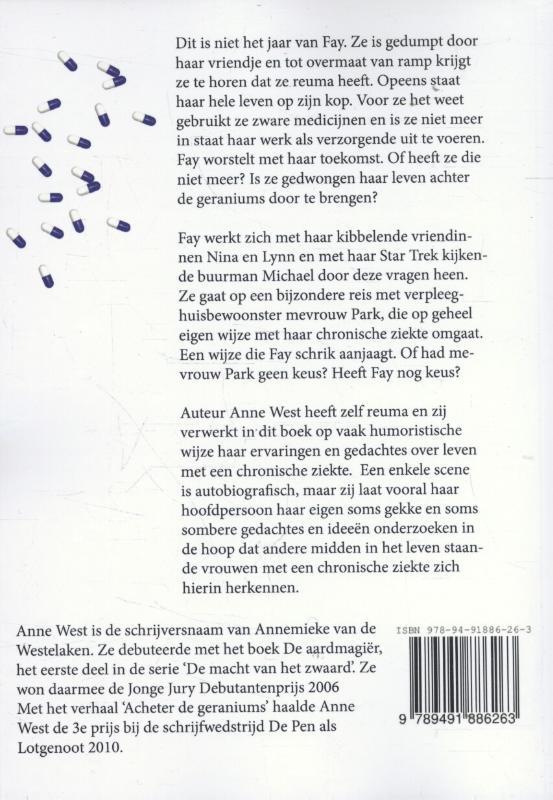 Anne West,Achter de geraniums