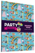 Chronicle Books Party Animals! Wrapping Paper