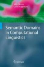 Alfio Gliozzo,   Carlo Strapparava Semantic Domains in Computational Linguistics