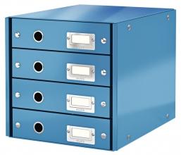 , Ladenbox Leitz WOW Click & Store 4 laden blauw