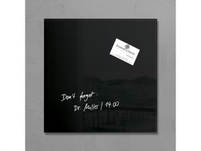 , glasmagneetbord Sigel Artverum 300x300x15mm zwart