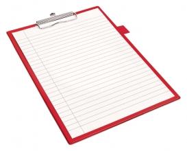 , Klembord Quantore A4 rood met 100mm klem + penlus