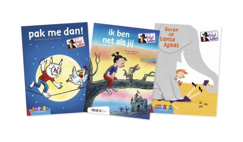 ,Pakket AVI-lezen met Paul van Loon groep 3 (3 titels)