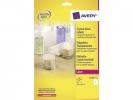 ,laseretiket Avery 210x297mm transparant 25 vel 1 etiket per vel