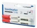 ,Viltstift Legamaster TZ100 whiteboard rond rood 1.5-3mm 2s
