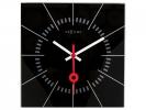,Wandklok NeXtime 35 x 35 cm, glas, zwart, `Stazione`