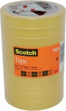 , Plakband Scotch 550 15mmx66m transparant