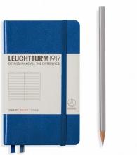 Lt344748 , Leuchtturm notitieboek pocket 90x150 lijn koningsblauw