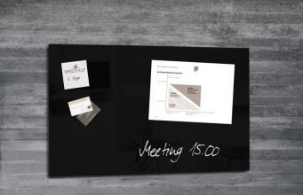 , glasmagneetbord Sigel Artverum 780x480x15mm zwart