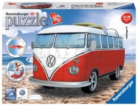 , Puzzel Ravensburger Volkswagen bus T1 bulli 3D 162 stuks