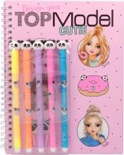 , Topmodel kleurboek met viltstiften candy cake
