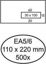 , Envelop Quantore 110x220mm venster 3x10cm rechts 500stuks