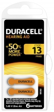 , Batterij Duracell Hearing DA13 Ø7,9mm 310mAh 6 stuks